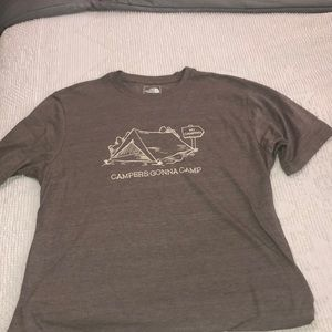 MENS LARGE NORTHFACE CAMPERS GONNA CAMP GRAPHIC